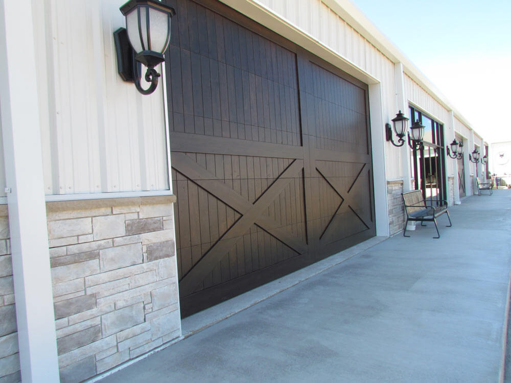Some commercial garage doors